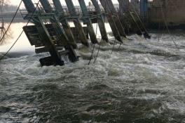 Noodoplossing bij stuw: tijdelijke dam