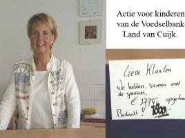 Actie Slender 4 daagse voor kinderen van de Voedselbank Boxmeer zeer geslaagd