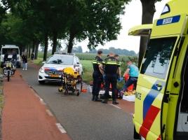 Man op brommer zwaargewond na val in Wanroij